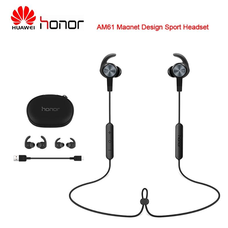 Huawei Honor AM61 Bluetooth Wireless Earphones Magnet Design Outdoor Sport Headsets For Huawei Samsung Xiaomi