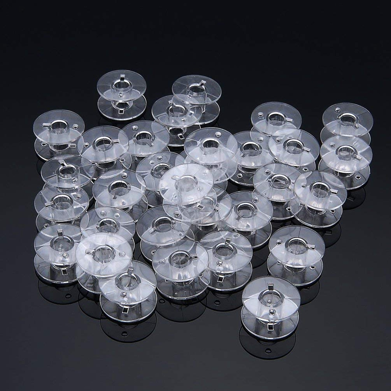 Sewing Bobbins, Plastic Sewing Machine Bobbins, Durable <font><b>Top</b></font> Load Sewing Thread Bobbins image