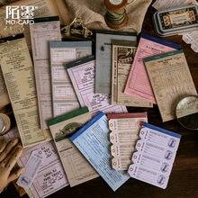 1 set/lote almofadas de memorando notas pegajosas retro bilhete papel diário scrapbooking adesivos escritório escola papelaria bloco de notas