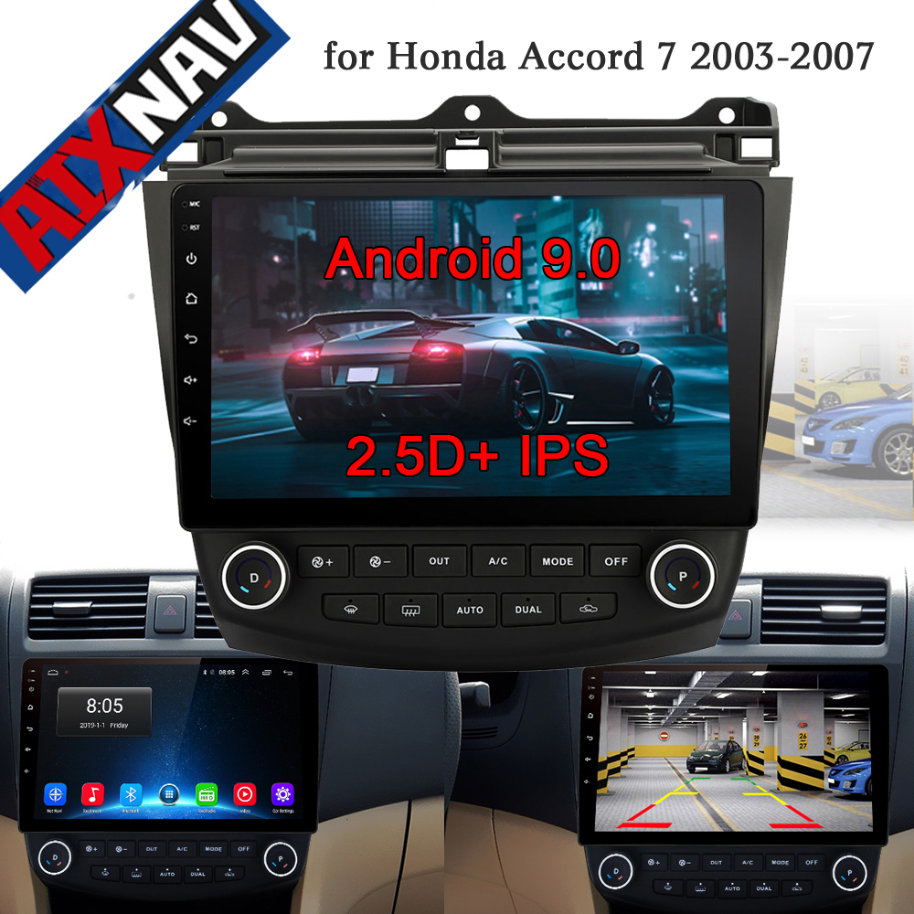Car Radio Multimedia Player Android 9.0 for <font><b>Honda</b></font> <font><b>Accord</b></font> 7 <font><b>2003</b></font> 2004 2005 2007 car dvd audio <font><b>stereo</b></font> gps Navigation RDS 2 din DVD image