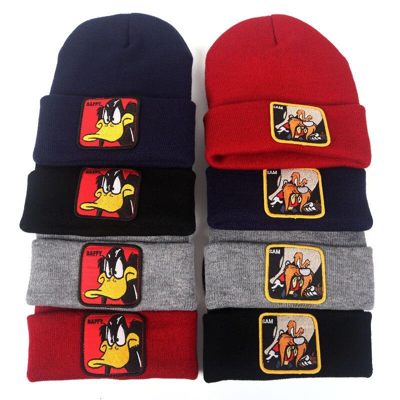 2019 New Knitted Winter Caps Women Men Soft Warm Beanie Knit Cap Crochet Elasticity Hats Skullies Female Ear Embroidery Hat