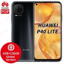 Globale Version Original Globale HUAWEI P40 Lite 6GB + 128GB Kirin 810 SmartPhone 48MP Kamera 16MP Vorne kamera 6,58 zoll Android