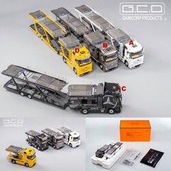 GCD 1:64 Benz Actros with Car Carrier Diecast Model Car