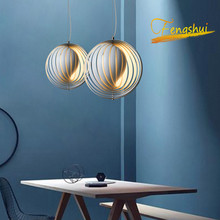 Modern LED Iron Moon Rotating Pendant Lamp Lighting Art Pendant Lamp Luster Suspension Luminaires Loft Bedroom Hanging Lamps
