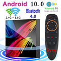 Android 10.0 Smart TV Box Bluetooth Voice Assistant Wifi 2.4G & 5.8G 4G 64G High Performance Set Top Box 6K 3D Media Player