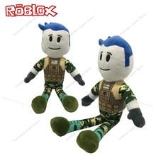 Nova roblox brinquedo de pelúcia bonito macio camuflagem jogo boneca pp algodão alta qualidade 38 cm boneca menino aniversário da criança presente festa natal