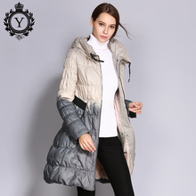 COUTUDI 2018 Winter Down Coat Women Parka Female Long Duck Down