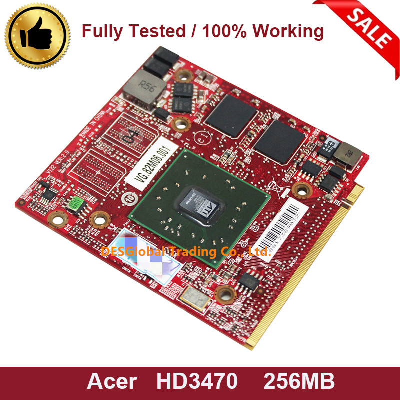 Original For Acer Aspire 4920G 5530G 5720G 6530G 5630G 5920G ATI Mobility Radeon HD3470 HD 3470 256MB Video Graphics Card