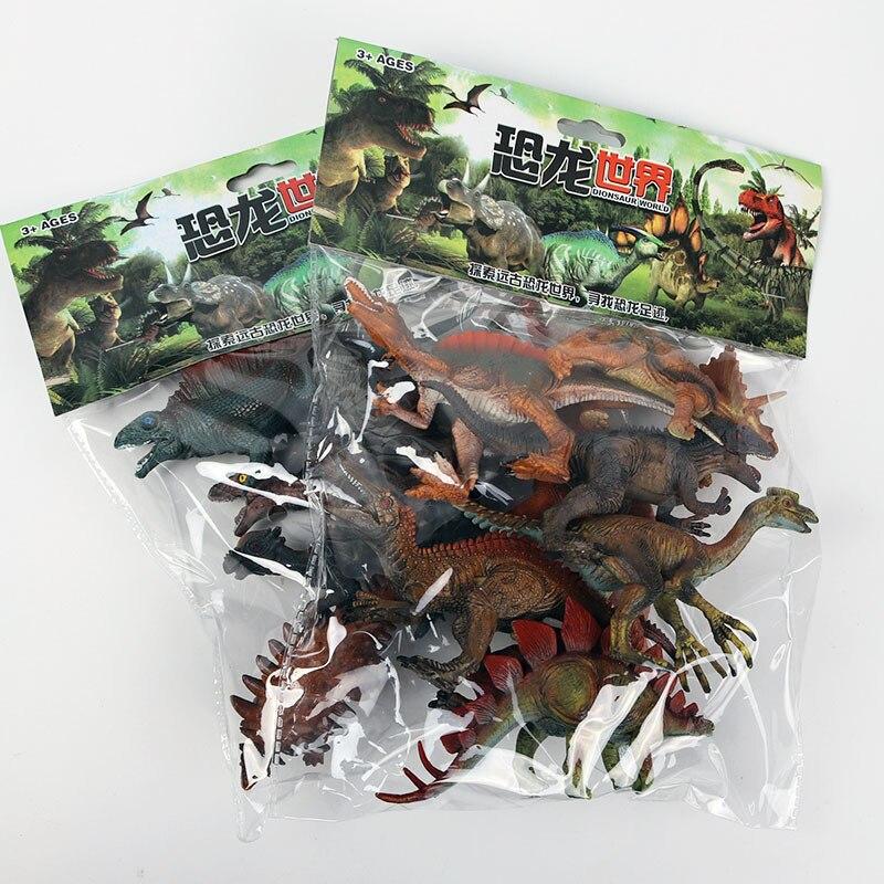 12pcs 15-18cm Simulated Solid Dinosaur Model Set Dinosaur Toys Tyrannosaurus pterosaur Tricerosaur