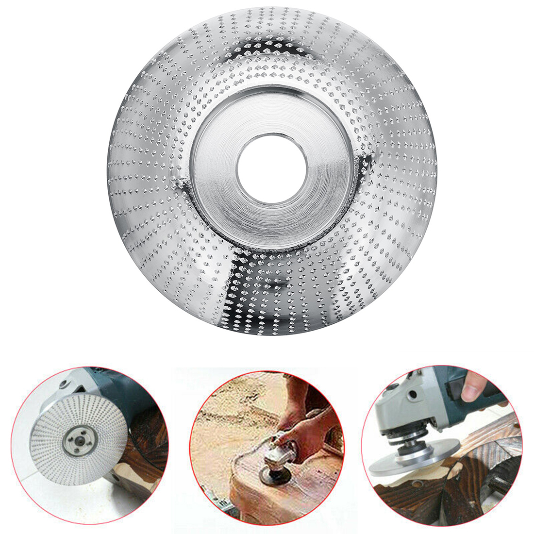 85*22mm High Quality Wood Grinding Wheel Rotary Shaping Disc Sanding Wood Carving Tool Abrasive Disc Tools For Angle Grinder