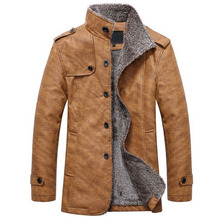 Faux Leather Jacket Men Plus Velvet Mens Motorcycle Man Fashion Solid Color Winter Jackets