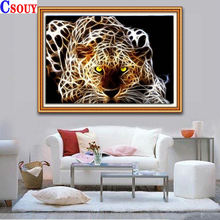 Животное 5d diy Алмазная картина леопардовая мозаика для рисования