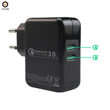 Dual port QC3.0/FCP/AFC 18W Fast Charging Adapter สำหรับ XIAOMI iPhone/iPad/ pixel/Samsung/Huawei/Millet/One Plus/LG