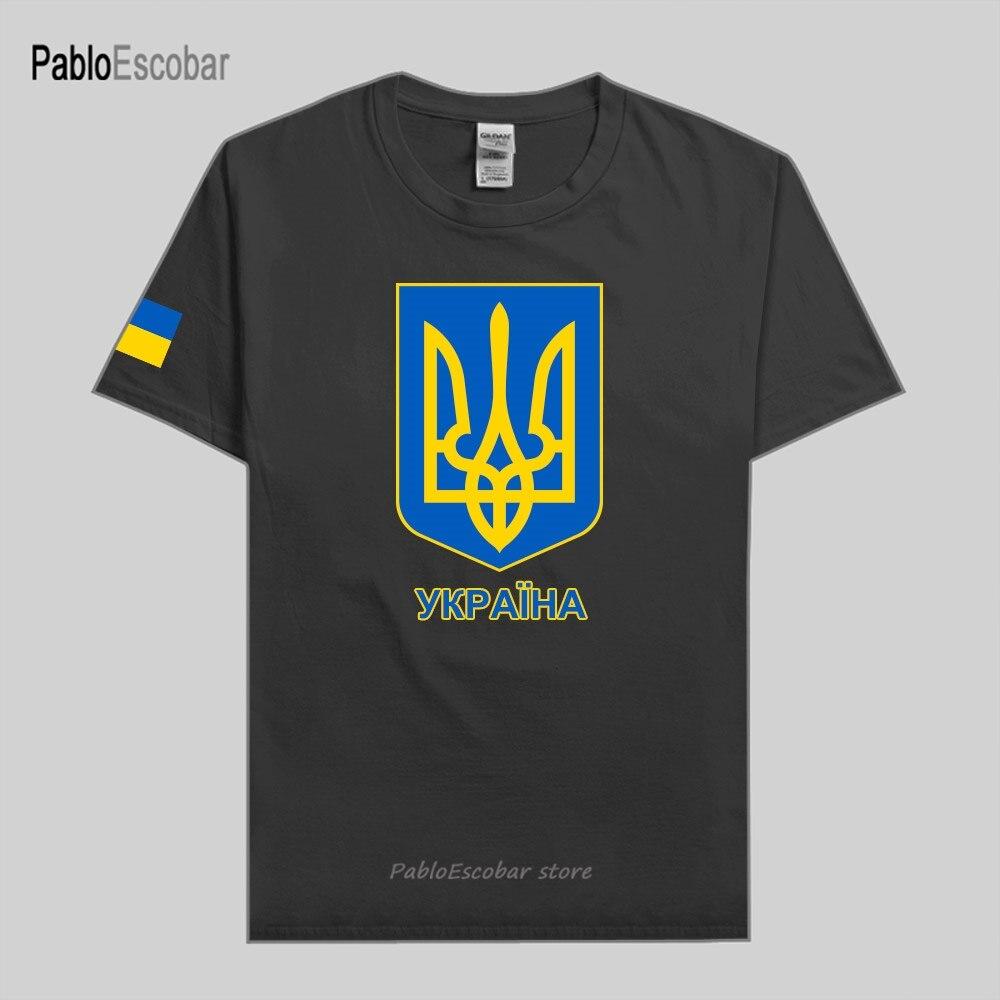 Украинская Мужская футболка из 100% хлопка, модная футболка из Джерси, национальная команда, футболки, кантри, спортивные, UKR Ukrayina