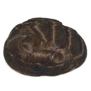 Image 5 - Saç ünitesi erkekler için Q6 taban erkek örgü ünitesi saç protezi peruk erkek saç parçaları