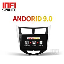 IPS Android 9.0 auto dvd voor Hyundai Solaris accent Verna i25 met gps navigatie radio video auto stereo multimedia speler(China)