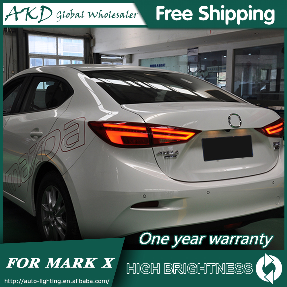 Tail Lamp For Car <font><b>Mazda</b></font> 3 Mazda3 Axela 2014-2018 Tail <font><b>Lights</b></font> <font><b>Led</b></font> Fog <font><b>Lights</b></font> DRL Daytime Running <font><b>Lights</b></font> Tuning Car Accessories image