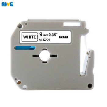 Aive M-K221 MK221 MK-221 Compatible brother P-touch PT-65 PT-90 Thermal Label Printer laminated strong adhesive Label Tape MK621
