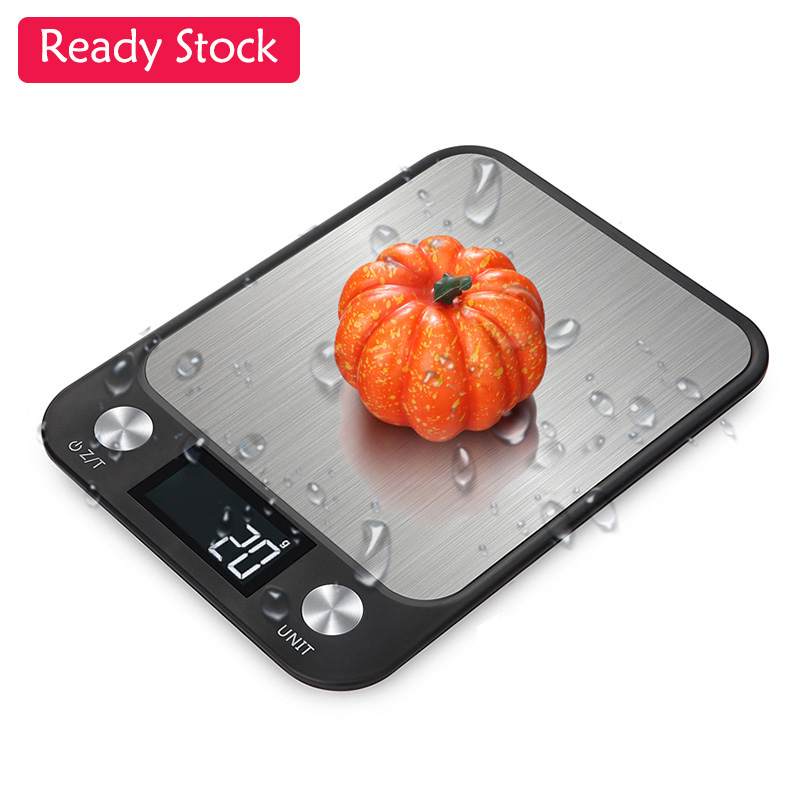 10kg/1g LCD Waterproof Stainless Steel Digital Food Scale Multifunction Kitchen Scale For Baking Cooking 10kg Electronic Scales