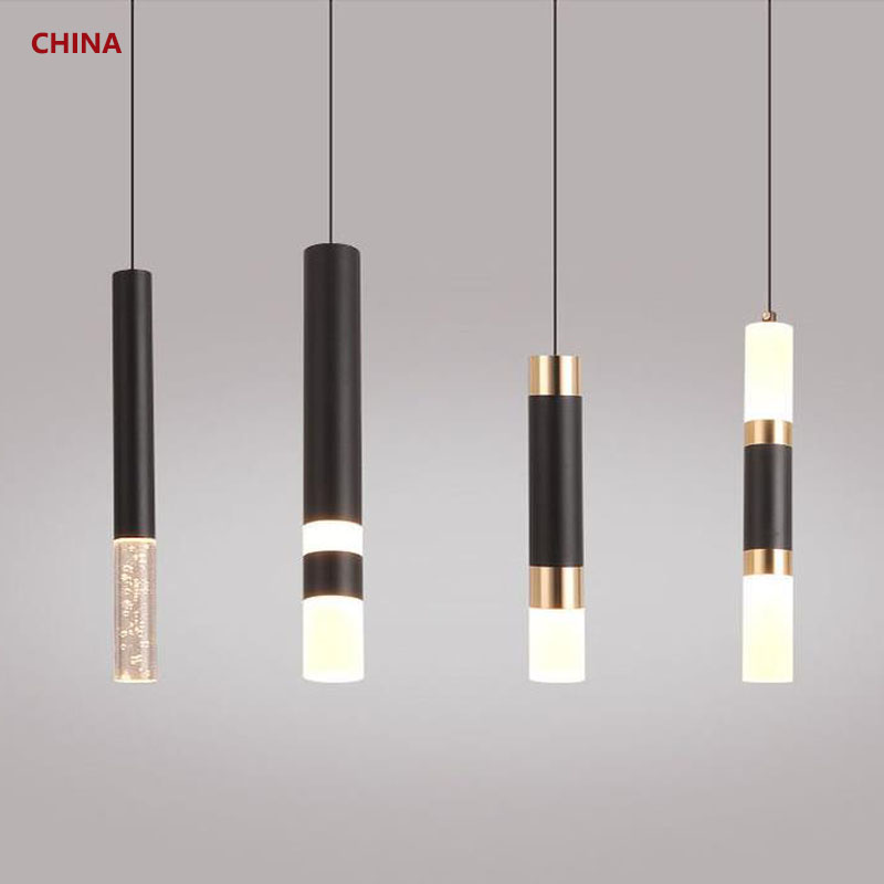 led Pendant light Dual light sources shine up and down droplight fixture Kitchen Island Dining Room Shop Bar Counter Decoration