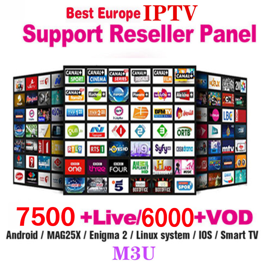 7500 Channels World Global IPTV Europe USA UK Germany Italy Nordic Latin 3/6/12 Month Subscription For M3U MaC Android Ssmart TV