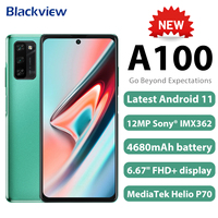 Blackview A100 Smartphone Helio P70 Octa Core 6GB+128GB 12MP HDR Camera Mobile Phone 4680mAh Android 11 Telephone 4G LTE Celular 1