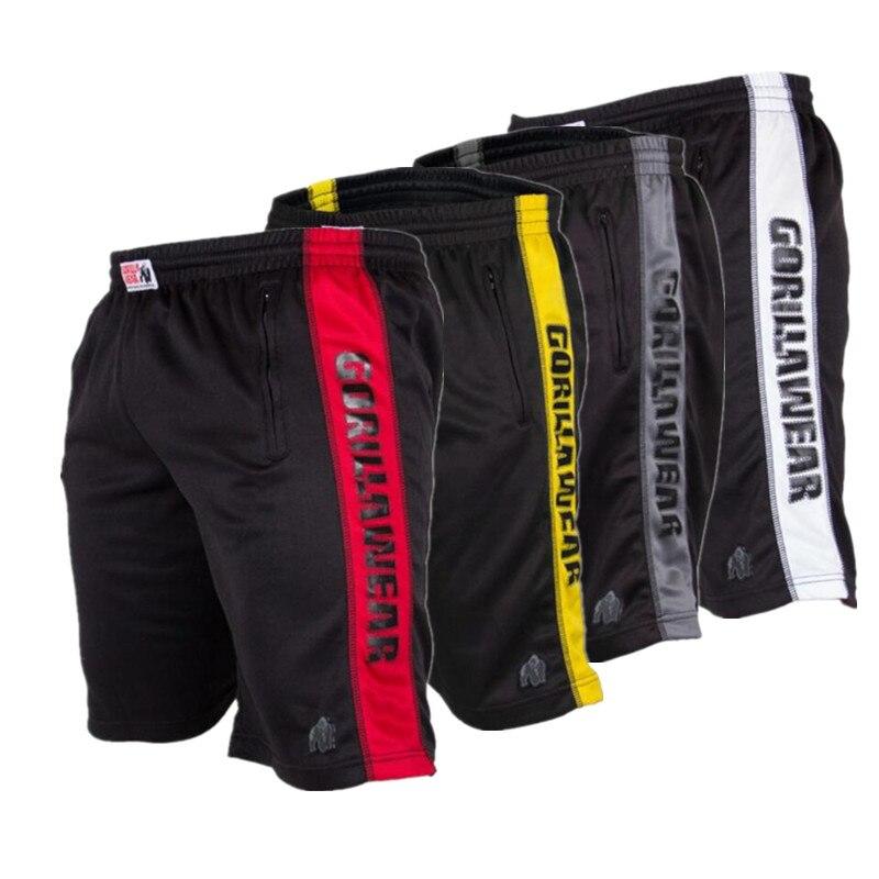 Shorts Men Gorilla Bodybuilding Fast Dry Boardshorts Joggers Knee Length Sweatpants Summer Male Gyms Fitness Workout Beach Short