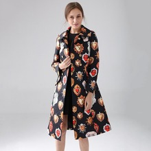 Winter Clothes Women Slim Long Trench Coat 2019 Early Autumn