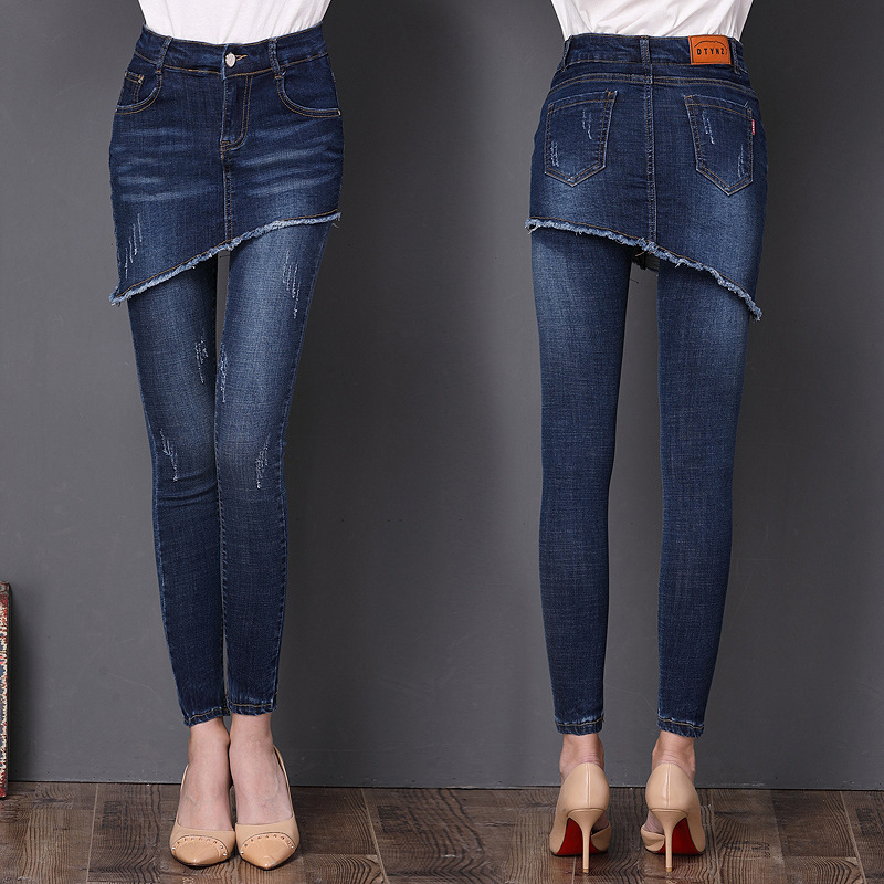 New 2020 Jeans For Women Blue Jeans Woman High Elastic Plus Size Stretch Jeans Female Washed Denim Skinny Pencil Pants LX2447