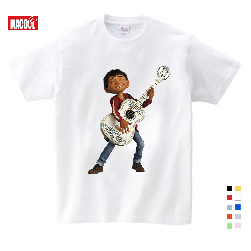 2020 Summer Cartoon Pixar Movie COCO Cotton Slim T-Shirt Tops Short Sleeve Clothes Casual Sport Tops Tees Cotton Tshirts Boys