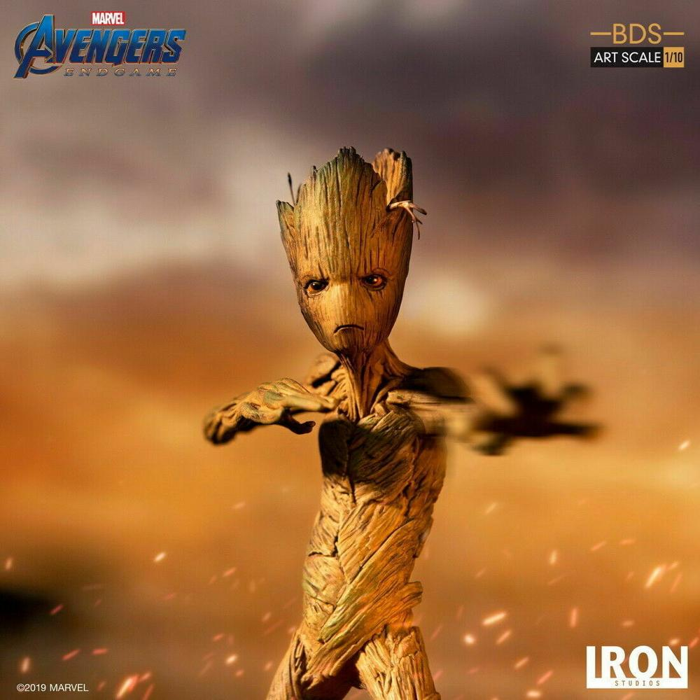 Avengers 4 Iron Studios MARCAS18519-10  Groot 1//10 Figure Toys Gift Collection