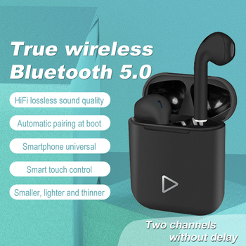 Bluetooth Wireless TWS Earphones Stereo Headset Sport Waterproof Headphone with Microphon i12 Protective Case For Apple Airpods