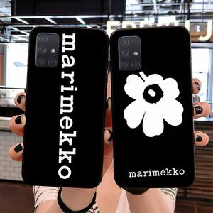 NBDRUICAI Marimekko Pink Flower Soft Silicone Black Phone Case for Samsung S20 plus Ultra S6 S7 edge S8 S9 plus S10 5G(China)