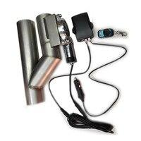 Universal patenteado 2.5/3 polegada dupla válvula de escape elétrico cortar válvula tubo silenciador kit com controle remoto sem fio Válvula de recirculação dos gases de escape     -