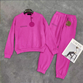 Solide 100% Baumwolle Sweatsuit Set für Männer Zwei Stück Outfits Übergroßen Tops und Jogginghose Jogger Trainingsanzüge Lose Hosen