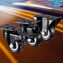 Roulettes de meubles à roulettes directionnelles, roulettes fixes durables en PU, roulement de meubles, poulie universelle, poulie rapide