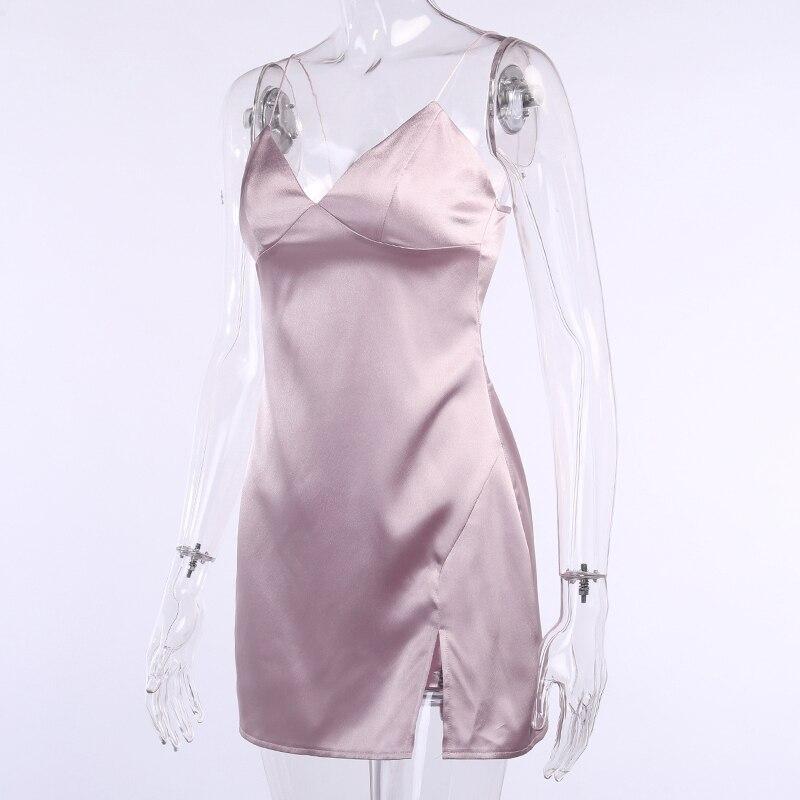 de espaguete mini vestidos de festa feminino