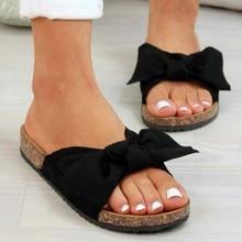 Bow Sandals Platform Female Shoes Flip Flop Femme Woman Summer Retro Chaussures