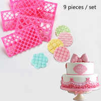 9 food-grade plastic baking mold sets creative cute cookie chocolate multi-functional tool cake  fondant decoration