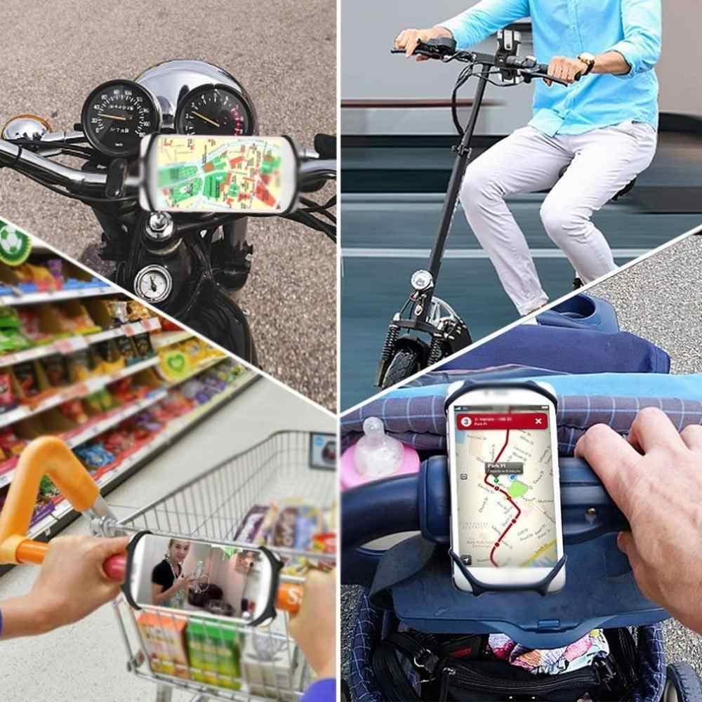 In magazzino Della Bicicletta Del Telefono Mobile Del Basamento Del Silicone Girevole del supporto Della Bici Del Telefono Clip del Supporto Del Supporto Del Basamento Universale Per Il IPhone Xiaomi HUAWEI