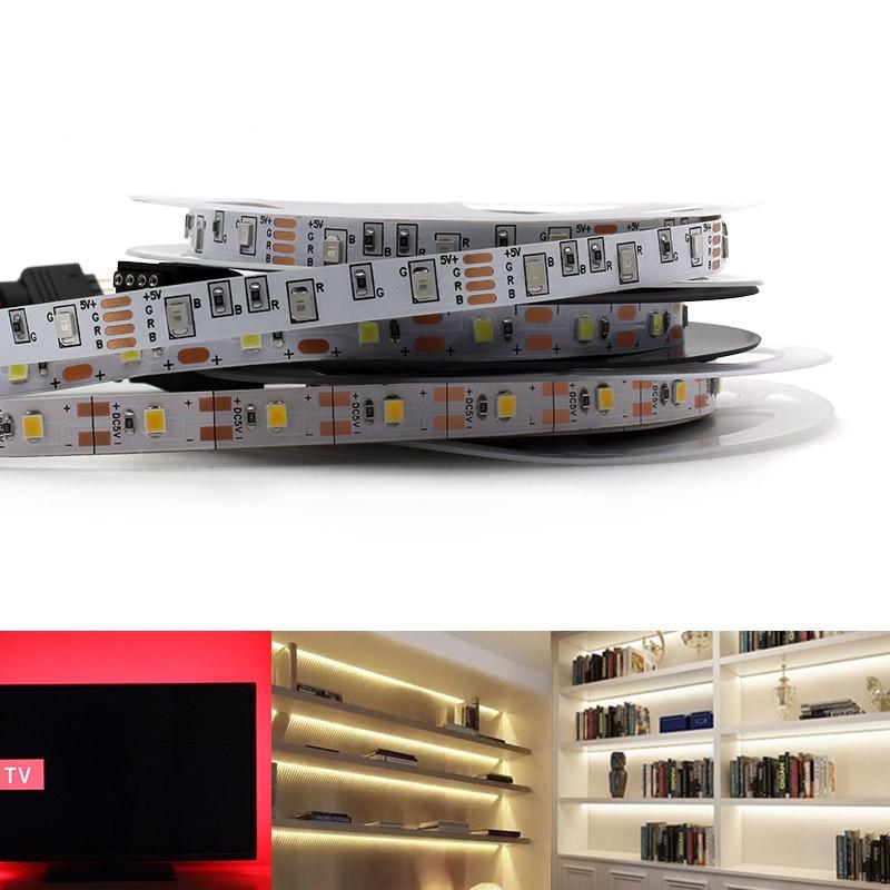 USB RGB 5V Led Light Strip SMD 2835 50CM - 5M 60Led/m Ambilight TV Backlight 5V USB Neon LED Strip Light Lamp Tape Diode Ribbon