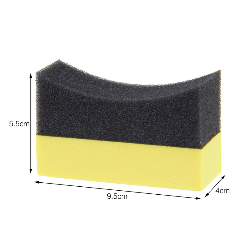 2pcs U-Shape Car Tire Waxing Polishing Washing Sponge Cleaning Pad Brush Auto Wash Tool Interior Detailing Brush Car Accessories