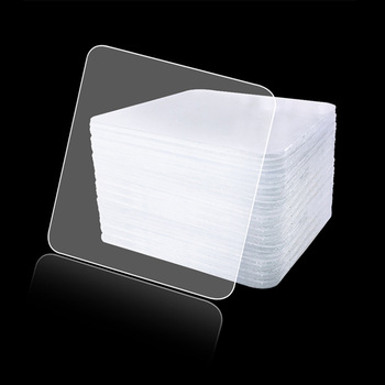 10/20PCS Powerful Double Sided Stickers Tape 6*6cm Self-adhesive Transparent Square Sticky Pads for DIY Craft Household
