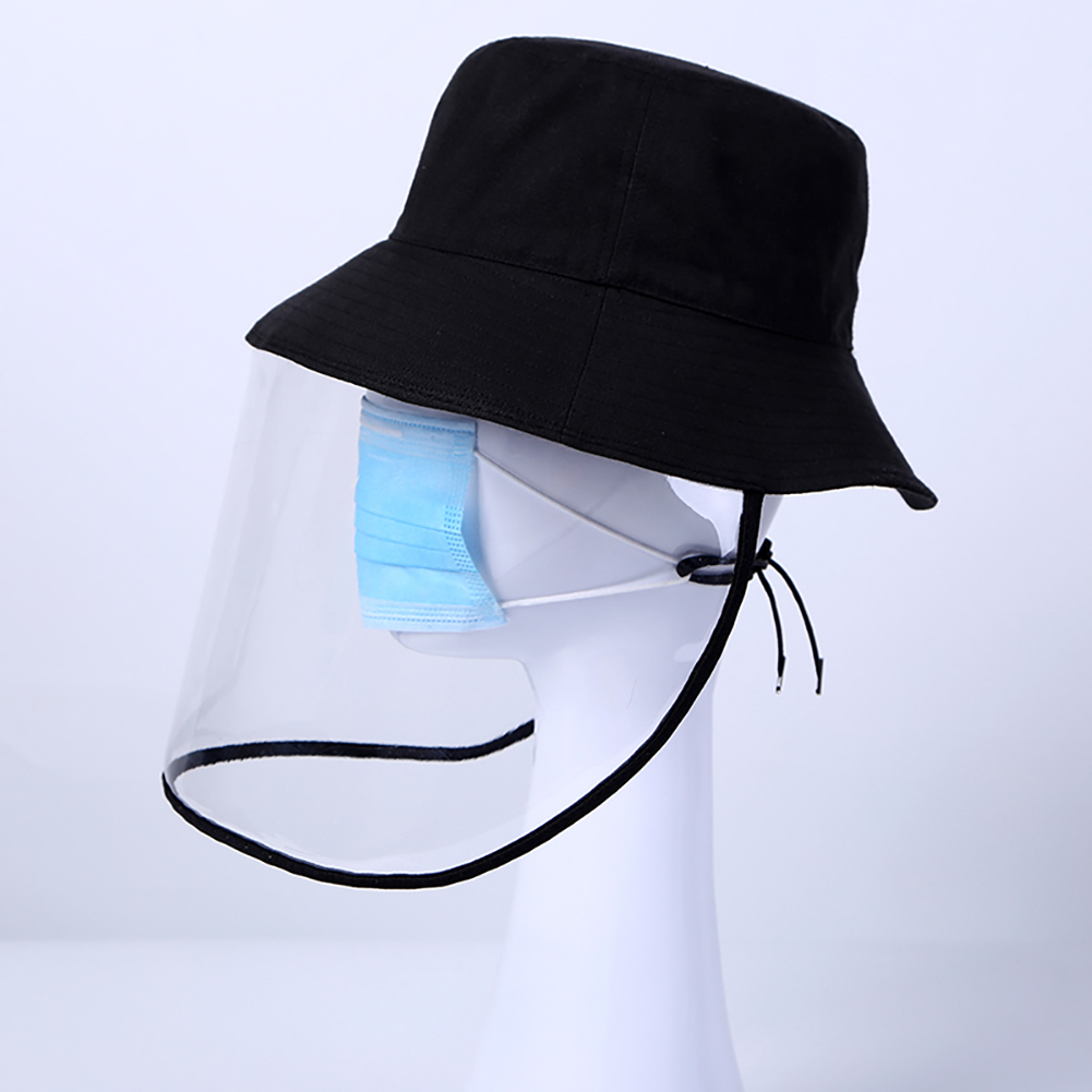 1pc/20pcs Clear Face Cover and Transparent Fisherman Hat to Block the Droplets and Prevent Infection
