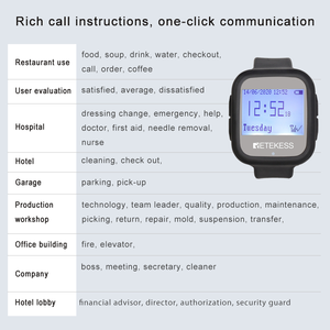 Image 3 - Retekess Restaurant Calling System TD106 2pcs Watch Receivers  Wireless Pager Cafe Office Restaurant Equipment Service F9453