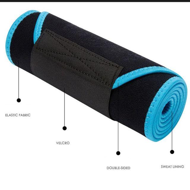 Waist Trainer Hot Sweat Belt Body Shaper Adjustable Warming Waist Protect Weight Fitness Belt 2