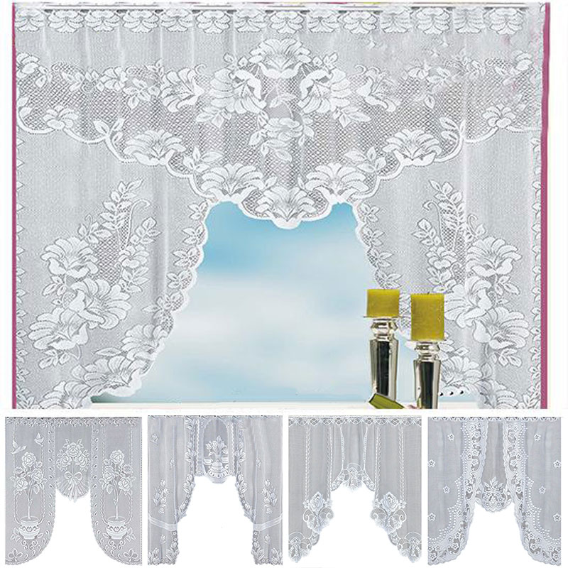 European White Lace Curtains For The Kitchen Valance Window Curtains Tulle Coffee Dividers Bedroom Curtain Roman Blinds Big Offer Ba83a Goteborgsaventyrscenter