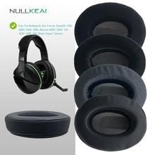 Nullkeai substituição earpads para turtlebeach orelha força stealth 700/600/450/300, reconhecimento 600/200/70/50x/50p, xo um/quatro/sete