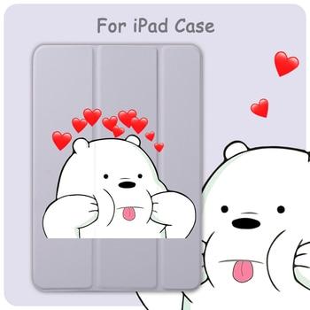 цена на Case For iPad Mini 5 4 3 2 1 Tablet Cover Auto Sleep Wake Cute Cartoon Bears Lovely For iPad Air 3 2 PU Protect Skin iPad Case