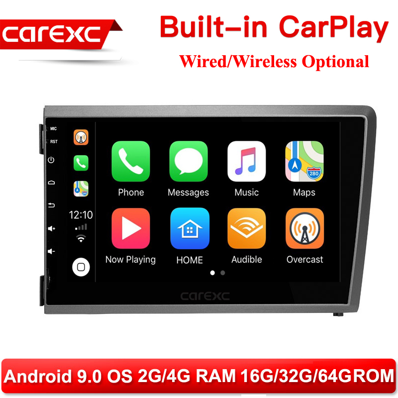 CarExc Multimedia Player Android 9.0 Head Unit For <font><b>VOLVO</b></font> S60 V70 <font><b>XC70</b></font> 2000 <font><b>2001</b></font> 2002 2003 2004 AutoRadio GPS Navigation CarPlay image